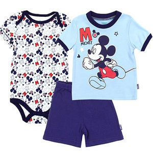 🏖Mickey Mouse Boys Baby 3PC Onsie/Pant/Shirt